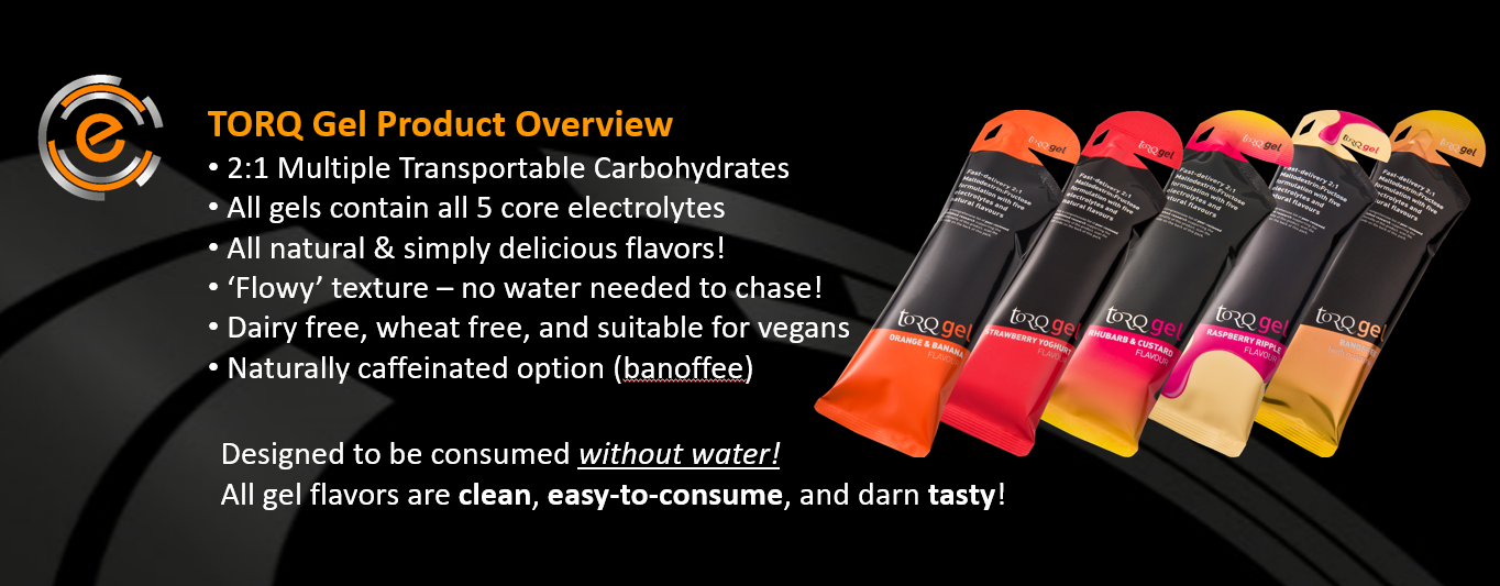 TORQ Gels - Part of the TORQ Fueling System